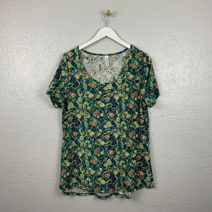 Lularoe Size XL Classic Green Yellow Purple Floral